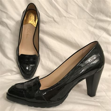 comfortable black pumps cole haan patent leather loafer style comfortable black