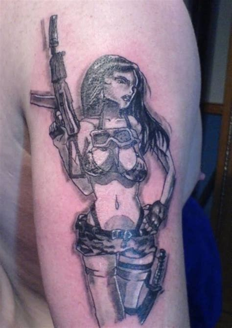 tattoo girl with gun gun tattoo ideas and gun tattoo designs