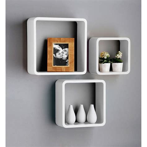 Wall Shelf Cubes by White Wall Cube Shelves 163 29 99 With Free Delivery