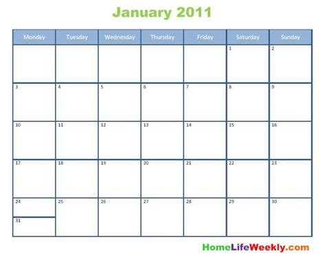2011 calendar template cellebrity an 2011 calendar blank printable