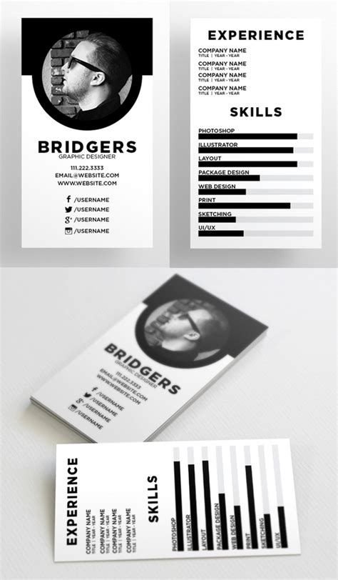 Resume Business Card Template by 25 New Modern Business Card Templates Print Ready Design