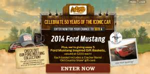Cracker Barrel Sweepstakes - cracker barrel old country store 2014 ford mustang sweepstakes win a 2014 ford mustang