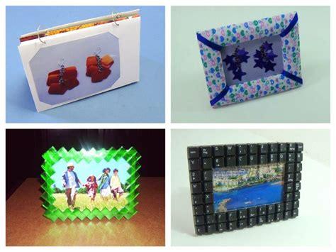 como hacer portarretratos con material reciclado marcos de fotos y portaretratos reciclados manualidades
