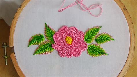 Embroidery Handmade Designs - embroidery flower stitch