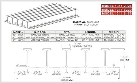 aluminum t floor threshold caps baffle plates chassisking com
