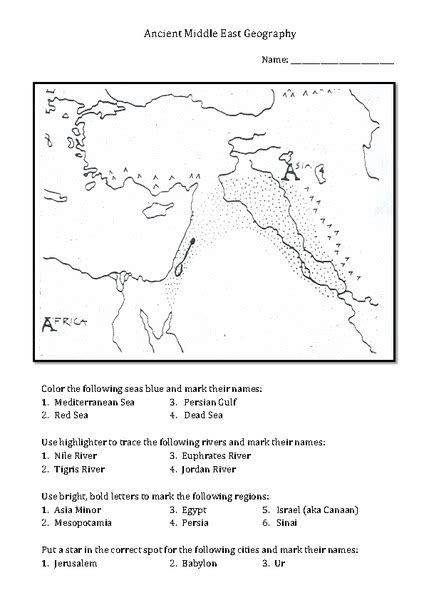 middle east map answers pin middle east worksheet pdf on