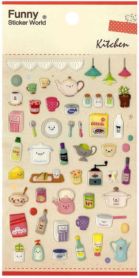 printable korean stickers kawaii korea happy kitchen jewel sticker sheet printable