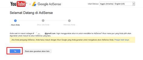 adsense youtube indonesia cara mengaitkan youtube ke adsense beda gmail terbaru 2017