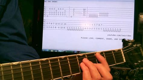 guitar lesson queens of the stone age guitar lesson queens of the stoneage no one knows youtube