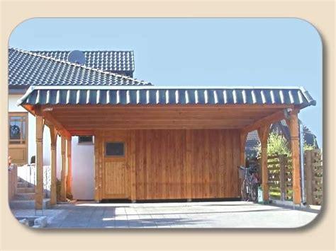 carport flachdach freistehend mit abstellraum von holzonde
