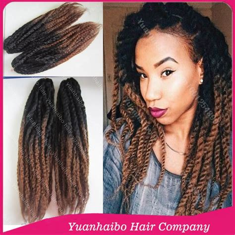 hair ombre kinky twist ombre braid hair wholesale price 20 quot fold black brown