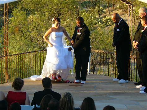 Wedding Ceremony Jumping The Broom by Jumping The Broom My Tucson Wedding