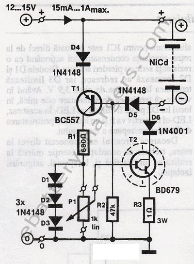 nicd battery charger circuit diagram col nicd battery repair
