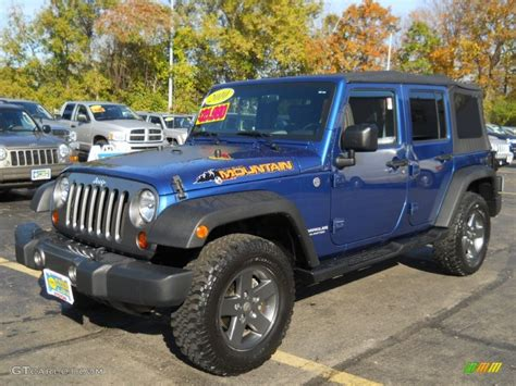 Jeep Wrangler Mountain by 2010 Water Blue Pearl Jeep Wrangler Unlimited