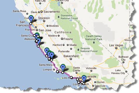 california map distances via vectors quot das auto quot road trip