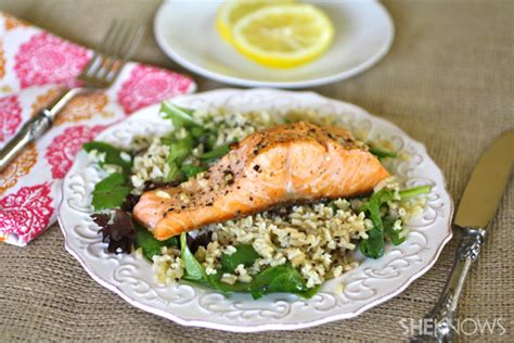 dinner dish sunday dinner warm salmon salad with lemon vinaigrette