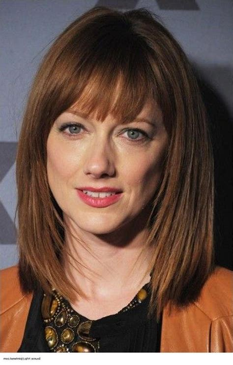 shoulde length bobs without fringe 2018 popular medium length bob hairstyles with bangs