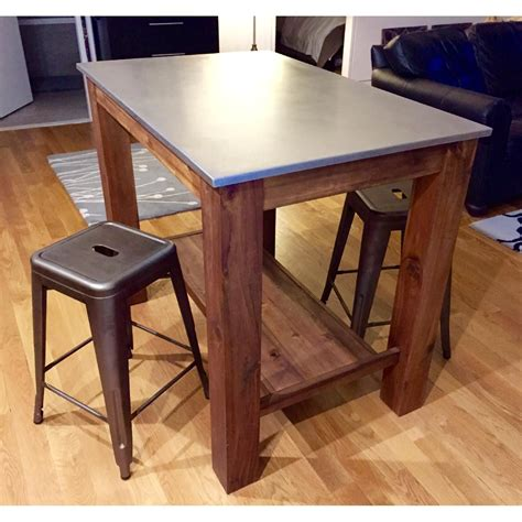 West Elm Kitchen Stools by West Elm Rustic Kitchen Island Bar Table W 2 Crate