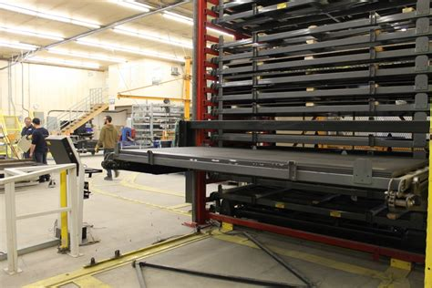 metal fabricating equipment storage and automated sheet metal vertical lift canadian metalworking