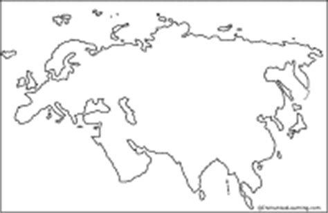 Outline Map Of Russia And Northern Eurasia by Asia Enchantedlearning