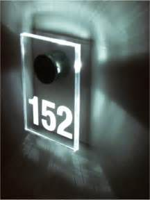 hotel led room numbers cloakroom signage escape