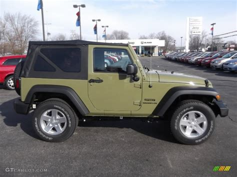 commando green jeep commando green 2013 jeep wrangler sport s 4x4 exterior