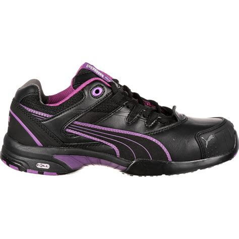 athletic toe shoes s purple black athletic steel toe work shoe