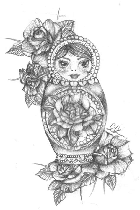 25 beautiful russian doll tattoo ideas on pinterest
