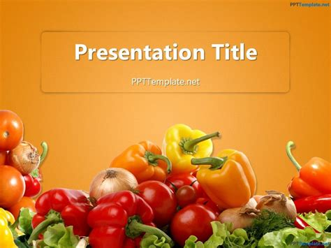 Food Templates by Free Various Vegetables Ppt Template Food Ppt Templates