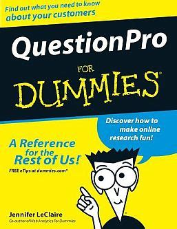 supply chain management for dummies books question pro survey tool ebook questionpro for dummies