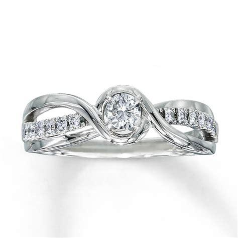 engagement ring 1 3 ct tw cut 10k