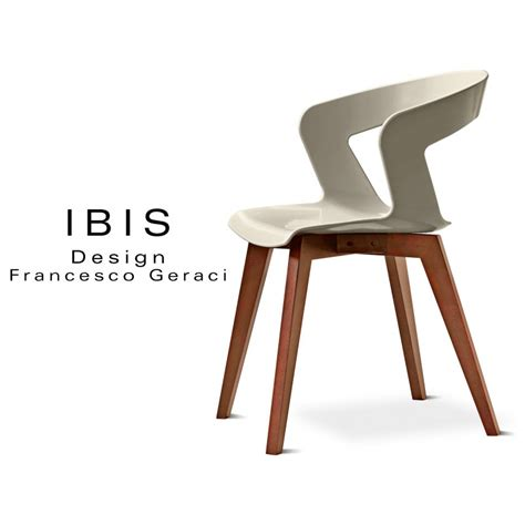 Chaise De Couleur Design by Chaise Design Coque Pi 233 Tement Bois Ibis Assise Plastique