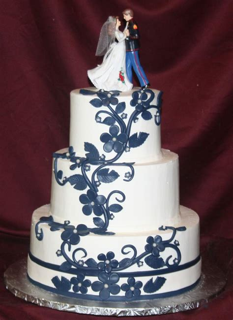 Wedding Cake Navy by Beautiful Bridal Navy Blue Wedding Cakes