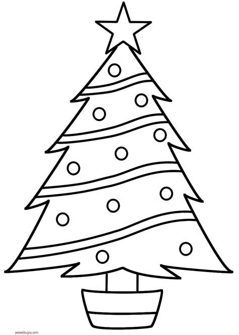 arbol de navidad para calcar dibujos de abetos de navidad para colorear