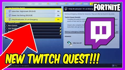 fortnite account fortnite news twitch quest how to get twitch quest