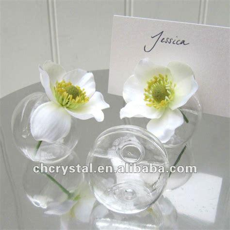 Vase Place Card Holders by Glass Globe Vase Card Holders Orb Glass Vase Place Card
