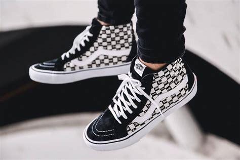 vans sk8 hi supreme supreme x vans sk8 hi checkerboard black 2016