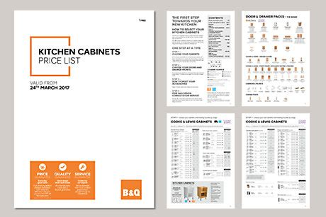 kitchen cabinets price list ireland home brochures diy at b q