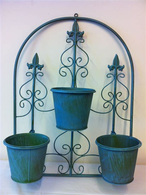 planters that hang on the wall 3 pot arch planter wall hanging garden ornament includes