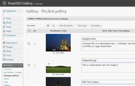 themes for nextgen gallery nextgen gallery wordpress plugin technogadge