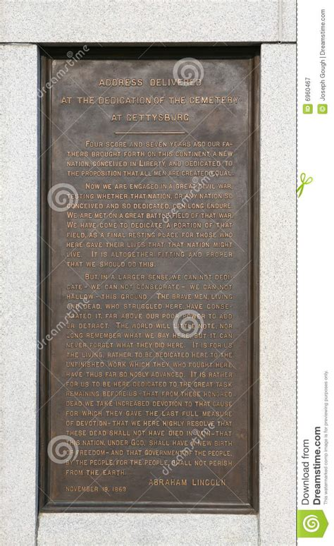 lincoln pa address gettysburg address transcript royalty free stock