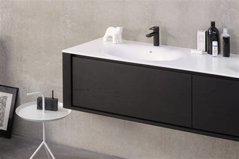 Black Vanity Units For Bathroom Qualitime Black Vanity Unit With Drawers Qualitime Black Collection By Ethnicraft