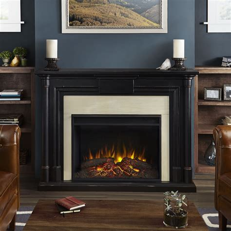 Maxwell Fireplaces by Real Maxwell Grand Electric Fireplace In Blackwash