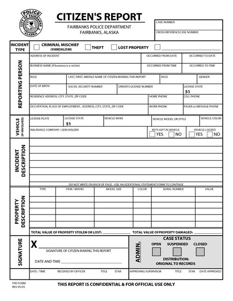 Best Photos Of Police Report Pdf Sle Police Report Forms Police Report Template Pdf And Arrest Report Template