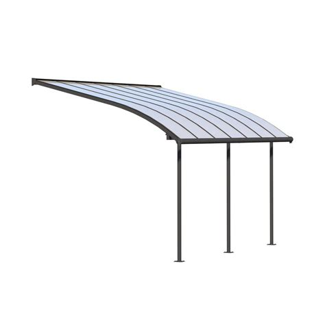 10 ft awning palram joya 10 ft x 14 ft grey patio cover awning 704453