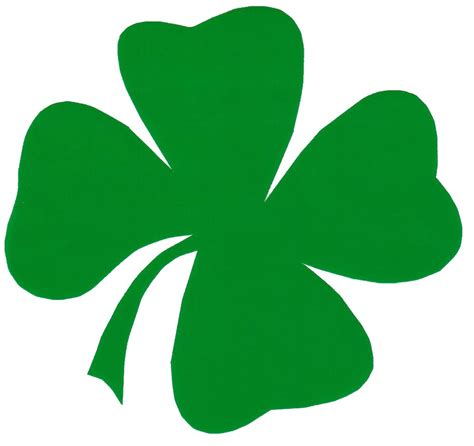 four leaf clover clip pictures of four leaf clovers clipart best