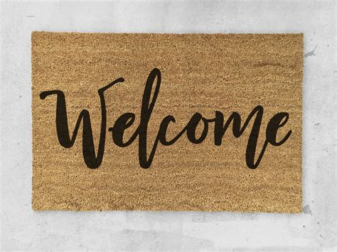 welcome mat welcome doormat painted welcome door mat