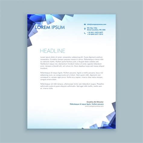 free download stationary layout design vector abstract shapes letterhead design vector free download