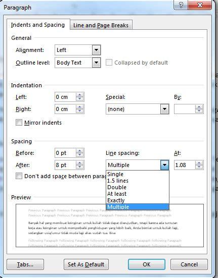 format makalah spasi pengaturan microsoft word dalam pembuatan tulisan makalah