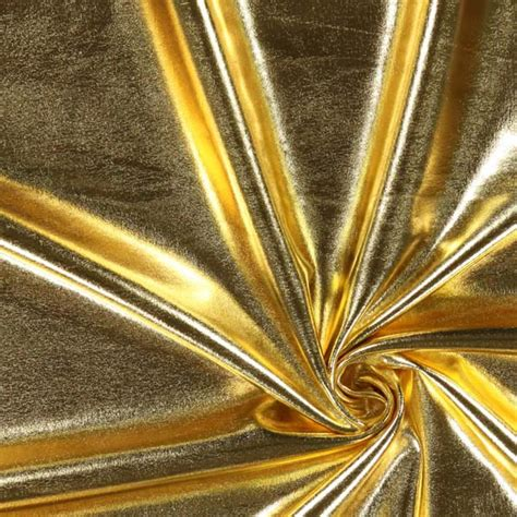Folie Gold Meterware by Folien Jersey 2 Gold Karnevalsstoffe Stoffe De